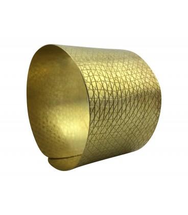 Engraved brass bracelet