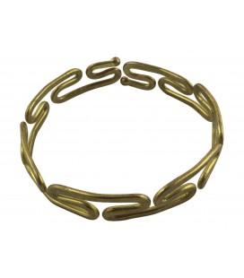 Tide brass bracelet