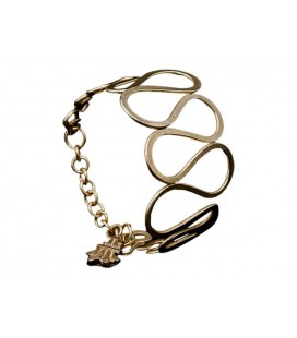 Waves brass bracelet
