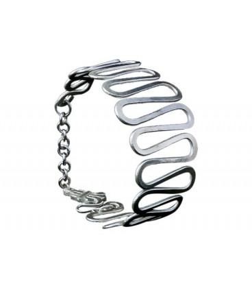 Waves silver plated bracelet