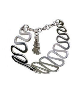 Waves silver plated bracelet