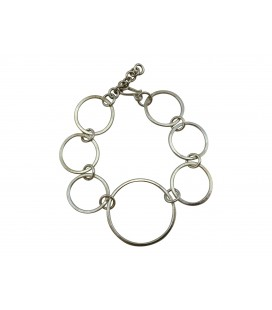 Rings silver plated bracelet