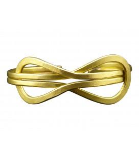 Infinity brass bracelet
