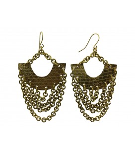 Brass chains earrings