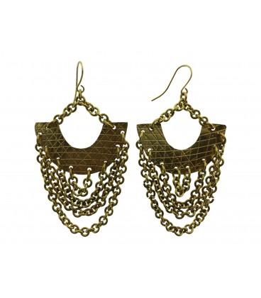 Brass chains earrings