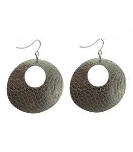 Disc silver plated earrings