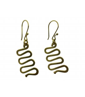 Waves brass earrings