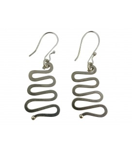 Waves silver plated earrings
