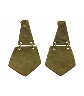 Pentagon brass earrings