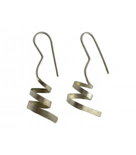 Spiral silver plated earrings