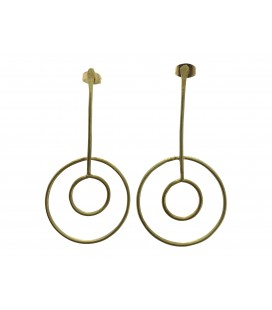 Fixed full moons brass earrings