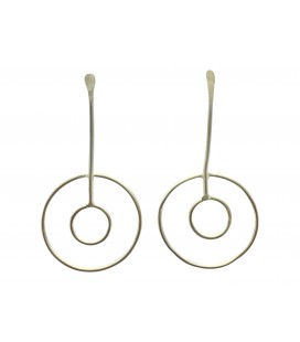 Fixed full moons silver plated earrings