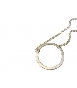 Endless silver plated circle necklace