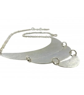 Moons silver plated necklace