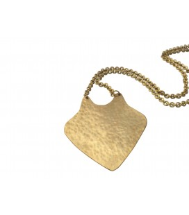 Fox brass pendant