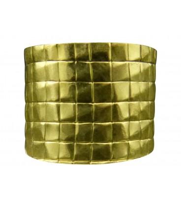 Engraved brass ring