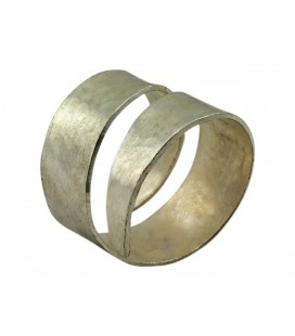 Spiral silver plated ring