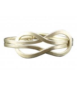 Infinity silver plated bracelet