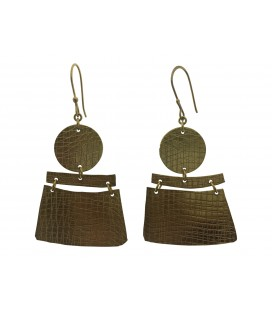 Placket brass earring