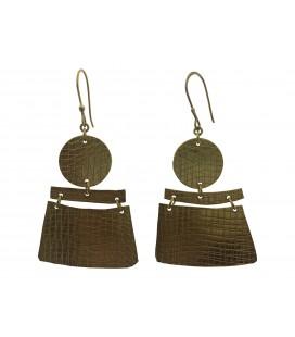 Placket brass earring