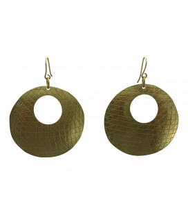 Disc brass earrings