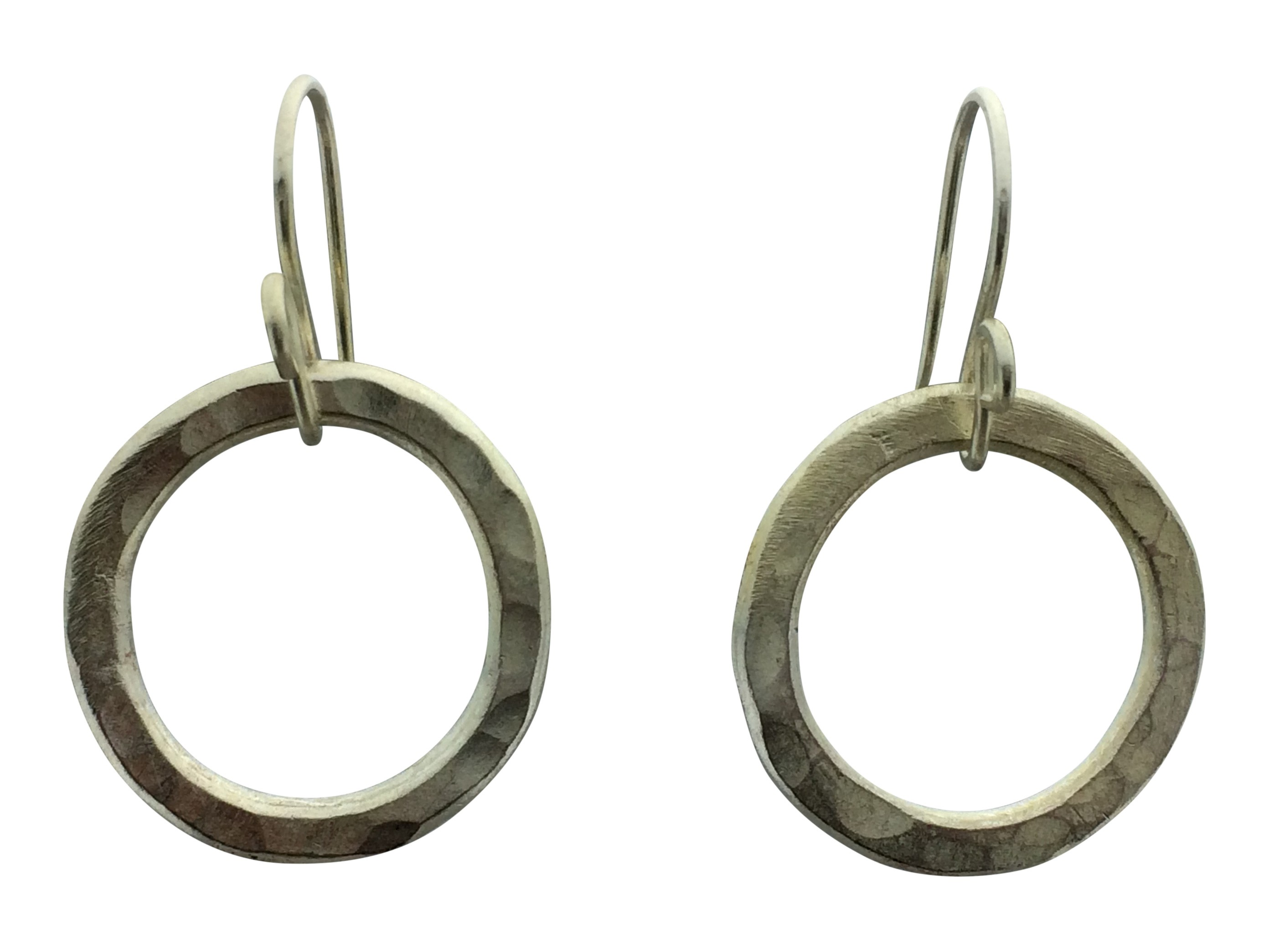 leverbacks white minimalist earr earrings p hammered to gold theresa pytell hoop dangle ready ship circle hoops product