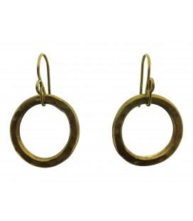 Endless brass earrings