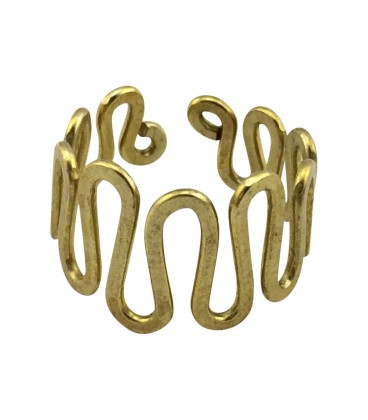Waves brass ring