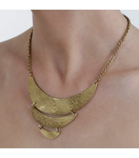 Moons brass necklace