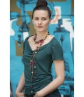 Fringe silk necklaces