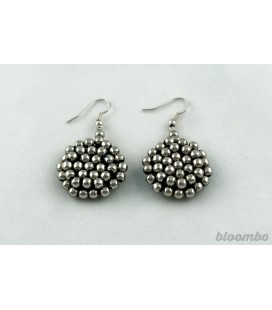 Masai silver earrings