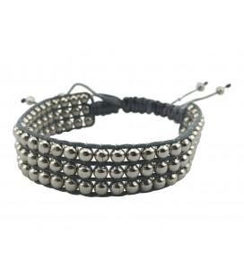 Masai silver beads bracelet